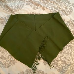 Olive Green Wool/Cashmere Blend Scarf
